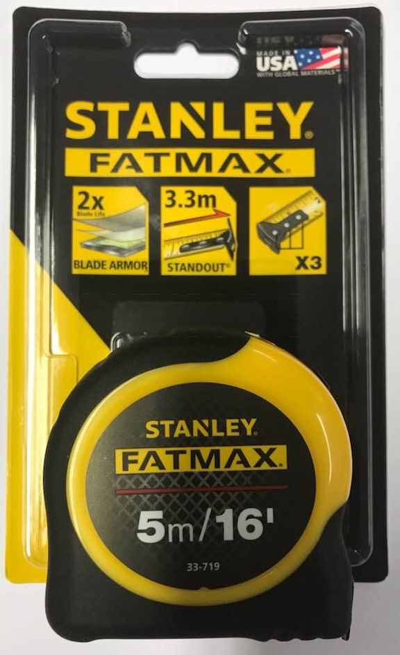 16ft Stanley STA033719 FatMax Tape Blade Armor 5m