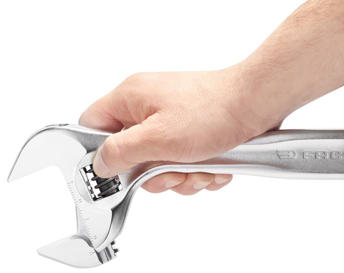 250mm Facom 101.10G Bi-Material Quick-Adjust Adjustable Wrench 10