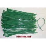 CABLE TIES 4.8 x 200mm GREEN (Pack quantity 200)