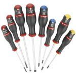 Facom AN.J8PB 8 Pce. Slotted, Pozi & Phillips. Screwdriver Set