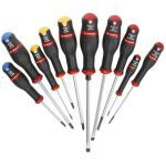 Facom ANW.J10 10 Piece ProTwist Screwdriver Set -Slotted, Pozi & Phillips