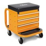 Beta 2258-O Heavy Duty Creeper Seat With 3 Drawer Tool Chest