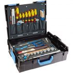 Gedore (Germany) 1100-01 Sturdy ABS Tool Case with 58 Piece Tool Kit