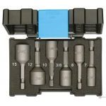 "Gedore 666-006 6 Piece 1/4"" Magnetic Nut Setter Bit Set 7-13mm"