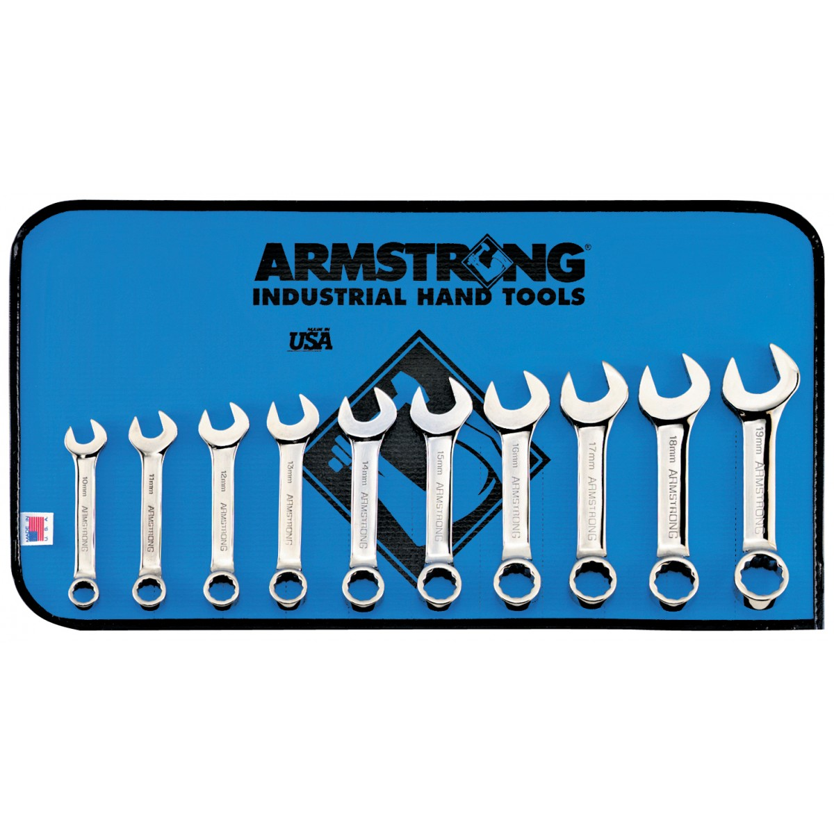 Stubby Spanner Set 10pc short Combination Stubby metric Spanners 10mm 19mm