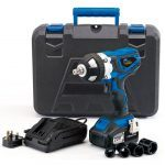 "Draper 82983 Storm Force 20V 1/2"" Drive Cordless Impact Wrench Gun x2 Li-ion Batteries"