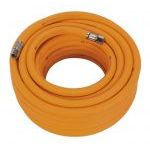 "Sealey AHHC1538 10mm id x 15mtr Air Hose Hybrid High Visibility with 1/4""BSP Unions"