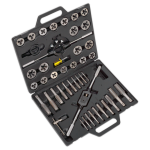 "Sealey Tools AK303IMP Tap and Die Set 1/4"" - 1"" UNF & UNC Imperial Threads in a Sturdy Case"