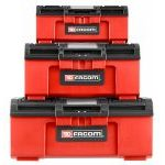 "Facom BP.CSTK3N Set of 3 Plastic Tool & Parts Storage Boxes; 16"", 19"" & 24"""