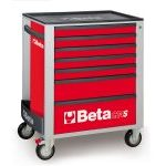 Beta C24S/7 7 Drawer Mobile Roller Cabinet Red