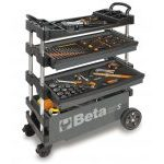 Beta C27S Folding Portable Collapsable Tool Trolley With Drawers Grey