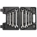 Gedore Red R07203012 Ratchet Combination Spanner Set 8-19mm with Adaptors
