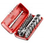 "Facom R1PICO 1/4"" Drive Flexi Ratchet, Screwdriver Bit & Socket Set"