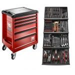 Facom 129 Piece Tool Kit In Module Trays With 6 Drawer Roller Cabinet