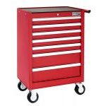 Britool E010231B 7 Drawer Roller Cabinet Tool Box - Roll Cab - Red
