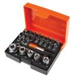 "Bahco 2058/S26 1/4"" Drive Ratchet Socket & Screwdriver Bit Set 26 Piece"
