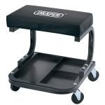 Draper 54243 Garage Workshop Mechanics Work Stool Seat With Wheels