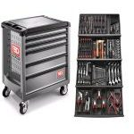 Facom 129 Piece Tool Kit In Module Trays With 6 Drawer Grey Roller Cabinet