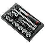 "Facom MOD.S161-36 23 Pce. 1/2"" Drive 6 point Socket Set 8-32mm in Tool Box Tray"