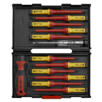 Sealey Tools AK6128 13pc VDE Electrical Interchangeable Blade Screwdriver Set