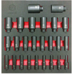 "Britool Hallmark LDHMPSET836 25 Pce 1/2"" Drive DEEP Impact Socket Set Sizes: 8-36mm"