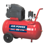 "Sealey SA5020 50 Litre Direct Drive Air Compressor 2Hp 116 PSI 1/4"" BSP 240v"