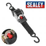 Sealey ATD50301 Auto Retract Ratchet Tie Down Strap 50mm X 3 Metres