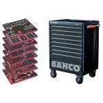Bahco 357 Piece AUTO Tool Kit in E77 9 Drawer Roller Cabinet