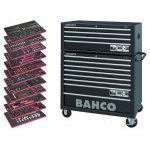 Bahco 758 Piece MONSTER Tool Kit in C75 XL Roller Cabinet & C85 Top Box